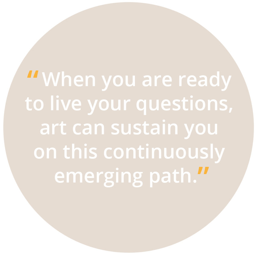 Yohaku Art Collective believes that when you are ready to live your questions, art can sustain you on this continuously emerging path.