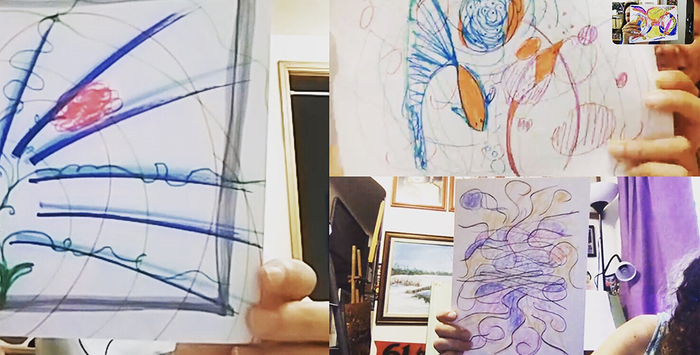 Monthly Dialogs with Arts promote the togetherness of art-making bringing the methodology of Expressive Arts Therapy from the offline to the online space.